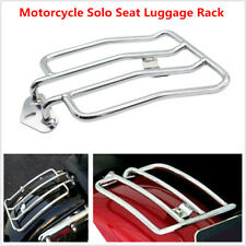 1x Motorcycle Chrome Solo Seat Rear Fender Luggage Rack Fit For Sportster Yamaha
