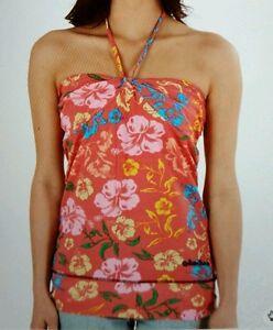 "Ladies URBAN BEACH Halterneck Top - Pink Multi - Size 10 Bust 34"" *QUALITY*"
