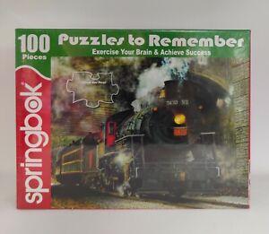 NEW - SEALED Springbrok Green Mountain Express Train 100 Piece Jigsaw Puzzle