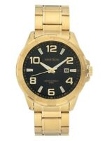 Armitron 20/5392BKGPWM Men's Gold-Tone and Black Calendar Dress Watch