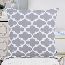 2Pcs Medium Grey Fluffy Pillows Shells Cases Geometric Accent Sofa Decor 45X45cm