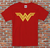 Wonder Woman Classic or BvS Symbol Comics Inspired T Shirt S-2XL Adults Kids