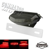 Motorcycle LED License Plate Light Brake Turn Signals Tail Light With Bracket