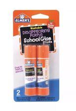 Elmer's Disappearing Purple School Glue Stick 6g 2ct (2 Sticks = 0.42oz) New