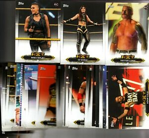 2020 Topps WWE NXT WRESTLING Roster Insert Cards #1-66 YOU PICK/CHOOSE .50  s/h