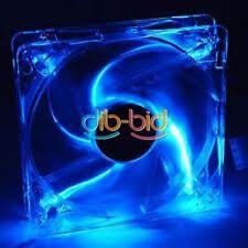 12V 80/120MM 4 LED Blue 60CFM PC CPU Computer Cooling Fan Case20 Mount Screws OZ
