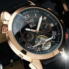 Luxery Automatic Stainless Steel Skeleton Tourbillon Watch - New