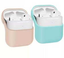 Pink Aqua Protective Silicone Cover Apple AirPod AirPods Charging Case 2-pack