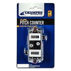 New Champro Sports Dual Baseball Pitch Counter Tracks 2 Pitchers - Black/White