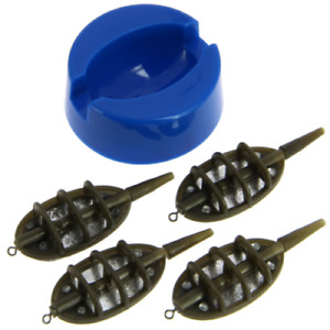 INLINE METHOD FEEDER AND MOULD SET FOR CARP FISHING 4 & 1 FEEDER MOULD SET