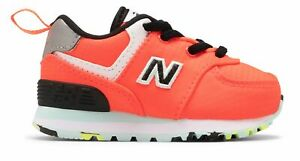 New Balance Infant 574 Windbreaker Shoes Pink with Blue