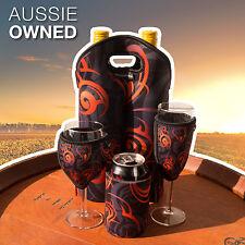 Neoprene Cooler Set - Wine, Champagne, Can and Bottle Cooler | Orange Design