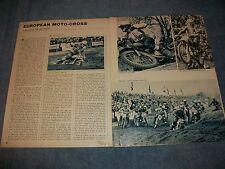 1965 European Moto-Cross Season Review Vintage Article