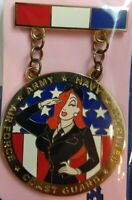 WDI Disney Imagineering JESSICA Rabbit Armed Forced MEDAL Ribbon Pin LE250