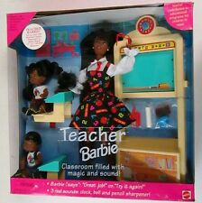 1995 Teacher African American Barbie Doll Set (NEW)