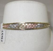 LQQK ~~ 14K Tri Color 14k Gold Bracelet ~~