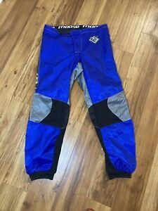 Moose Racing Dirt Bike Pants Size 38-35 Men's Motocross Black And Blue Padded