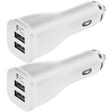 2x OEM Dual USB Car Charger Adaptive Fast Rapid For Samsung Galaxy Note 8 S8 S8+