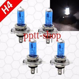 Combo 2 Pair H4 9003 HB2 100w Halogen Headlight Light Bulbs White High/Low Beam