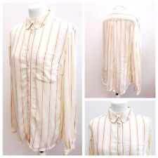 BRAND NEW NEXT Ladies White Striped Shirt Button Down Casual Work Office Sz 12