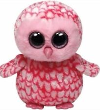 """TY Beanie Babies Boo's Pinky Owl 6"""" Stuffed Collectible Plush Toy NEW"""