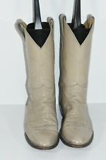 VINTAGE JUSTIN L3054 WOMENS 6 B TAN BEIGE LEATHER WESTERN ROPERS COWBOY BOOTS