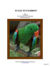 ECLECTUS PARROT - cross stitch chart