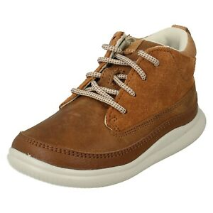 BOYS CLARKS CLOUD AIR KIDS LACE UP ANKLE BOOTS INFANT CASUAL WINTER SHOES SIZE