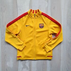 Barcelona Barca Training Jacket With Zipped Yellow Nike 694323-739 Size Young L