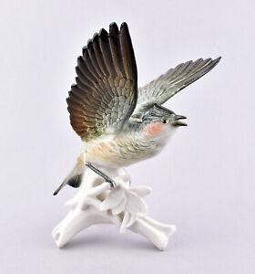 Karl Ens Volkstedt Porcelain Germany, Flying Lark Figurine #7473
