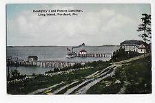 Vintage Postcard Long Island Portland Me Doudghty's Ponces Landings