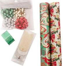 The Gift Wrap Company Holiday Wrapping Set Wrap Ribbon Bows and Gift Tags