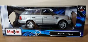 Maisto Range Rover Sport Finished in Silver 1:18 Scale Diecast Model Car Boxed