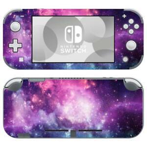Nintendo Switch Lite Skin Decals Sticker Cover Vinyl Nebula Galaxy Starry Purple