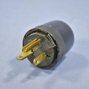 Pass & Seymour Black Straight Blade Plug 20A 125V NEMA 5-20P 5-20 Bulk 5765-BK