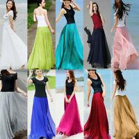 2019 Fashion Women Boho Chiffon Long Maxi Dress Beach Casual Sundress Long Skirt