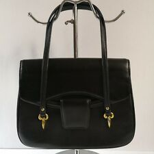 NB Vintage Style Black Leather Handbag