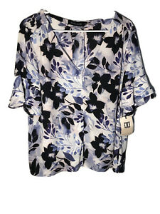 ivanka trump blouse Floral Multicolor XL
