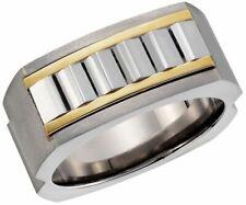 Dolan Bullock Saxony Titanium & sst  18k gold  ring nrg17000B msrp $250 size 11