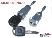 VW GOLF IV BORA FOX PORTE SERRURE KIT 2 CLÉS + 2 BARILLET AVANT GAUCHE & DROIT!