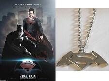Pendentif Batman v Superman dawn of justice logo pendant