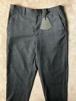 """ALL SAINTS MEN'S GREY """"ANTE"""" WOOL CHECK TROUSERS PANTS - 30"""" - NEW & TAGS"""