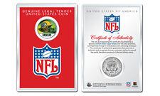 GREEN BAY PACKERS NFL Helmet JFK Half Dollar Coin w/ NFL Display Case LICENSED