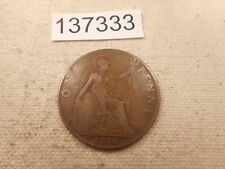 1918 KN Great Britain Penny Better Date - Collector Grade Album Coin - # 137333