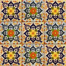 SET A004) 9 MEXICAN TILES CERAMIC TALAVERA MEXICO HAND MADE ART TALAVERA TILE