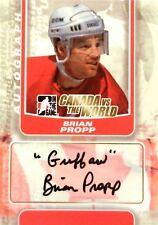 11-12 itg game canada vs world brian propp team autograph auto