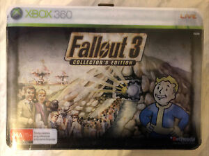 Fallout 3 UK Collector's Edition Microsoft XBox 360 Lunchbox Bobblehead *New!*