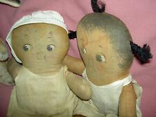 "Pair ""Chocolate Drop"" & Dolly Dingle, G. Drayton dolls, Georgene Averill Hendren"