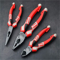 3 Types Combination Heavy Duty Pliers Set Soft Grip Long Nose Side Cutters Steel