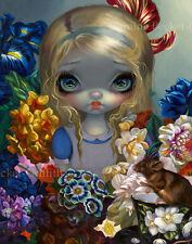 Jasmine Becket-Griffith wonderland art print SIGNED Alice with the Dormouse